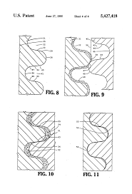 Buttress Wall Design Example Patent Us5427418 High Strength Low Torque Threaded Tubular