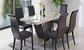 dining room round glass dining table and black chairs amazing