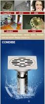 condibe round shorty basement floor drain check valve with elbow