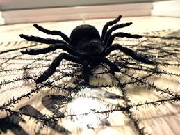 spooky spider halloween haunted house door decoration