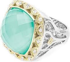 Turquoise Wedding Rings by Tacori 18k825 Neolite Turquoise Diamond Earrings Se101y08