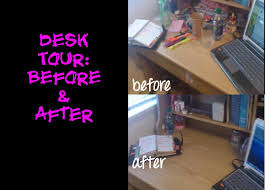 Organize A Desk How To Organize A Small Desk Before After