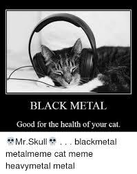 Black Metal Meme - black metal good for the health of your cat mrskull blackmetal