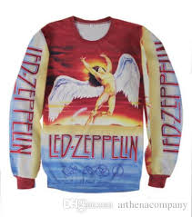led zeppelin sweater 2016 autumn winter sweatshirt led zeppelin swan song 3d
