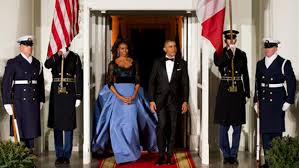 obama dresses obama wears carolina herrera gown at state dinner