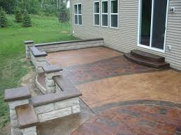 Decorative Concrete Patio Contractor Beautiful Raised Stamped Concrete Patio Yelp