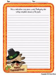 november thanksgiving writing prompt calendar common