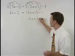 solving multi step equations mathhelp com algebra 1 help youtube