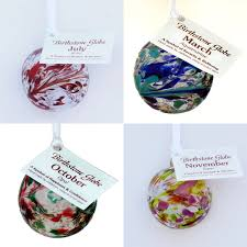 birthstone ornaments glass birthstone globes present company