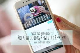wedding registry review wedding wednesday zola registry review a mix of min