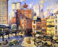 nyc south ferry 1917 oil on canvas colin campbell cooper 1856