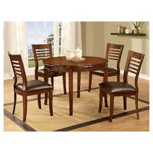5 simple wood dining table set with wooden seats