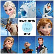 8 images frozen printable bingo cards bingo game frozen