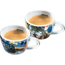 fancy coffee cups saeco 109011 romeo and juliet set of 2 cappuccino cups fancy