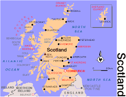 map of scotland and scotland map