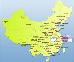 china on a map shenyang map