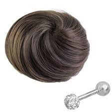 bun scrunchie piercingj new clip in ponytail bun scrunchie