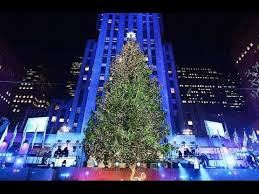 christmas tree lighting 2018 rockefeller center christmas tree lighting 2016 youtube