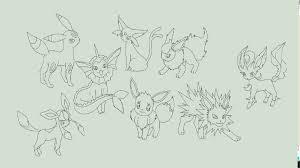 pokemon coloring pages eevee evolutions eevee