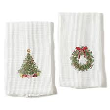 christmas towels christmas kitchen towels set of 2 gump s