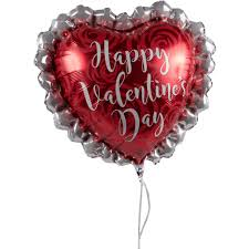 valentines ballons big and ruffled happy s day balloon