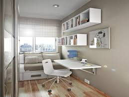 home office decor ideas with rectangle white stained wooden
