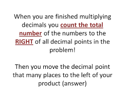 multiplying decimals multiplying decimals cornell notes ppt