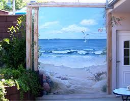 strand auf der terrasse wandmalerei meine bilder pinterest