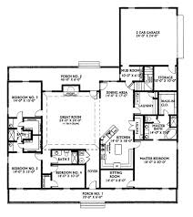 house floor plans ranch house plans and more foxridge country ranch home plan 007d 0136