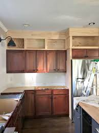 diy kitchen cupboard ideas building cabinets up to the ceiling from thrifty decor