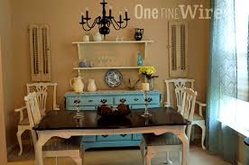 french country decor dining room shabby chic style with cake stand