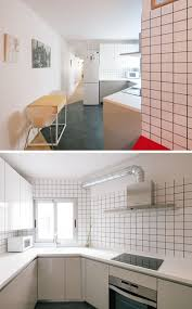 Tile In The Kitchen - see how three colors of grout were used with the tiles in this