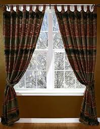 Country Rustic Curtains Striped Curtains Shop Everything Log Homes