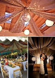 wedding ceiling decorations disco drapes would be really we could adapt it for