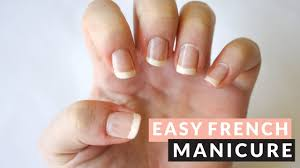 tutorial easy french manicure tape nail art youtube