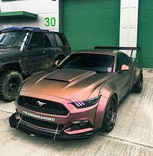 Ford Mustang Memes - unreal 2016 widebody mustang in iridescent orange yellow cars