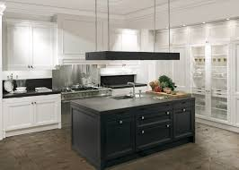 White Kitchen Cabinets With Black Island Black Kitchen Island With Black Granite Top Outofhome