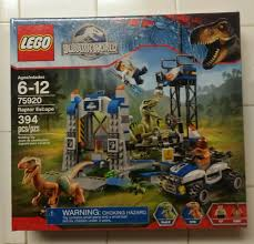 jurassic world jeep lego lego jurassic world raptor rampage 75917 new sealed vhtf bricks
