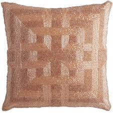 romantic glam beaded greek key pillow blush pier 1 imports