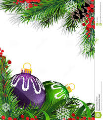 christmas tree decorations with green ribbon stock image image