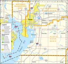 Florida Interstate Map by Southwest Florida Water Management District Hillsborough County
