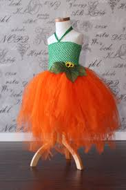 Girls Pumpkin Halloween Costume Pumpkin Princess Orange Green Tulle Auntielisasboutique