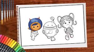 team umizoomi coloring pages for kids teach drawing and coloring