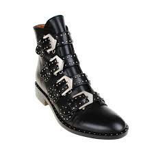 1114 best bottes souliers bottes exclusive lewis studded buckled biker ankle boots black in