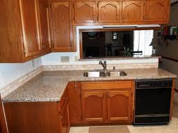 creme caramel granite 60 40 sink half bull nose edge 2x4 light