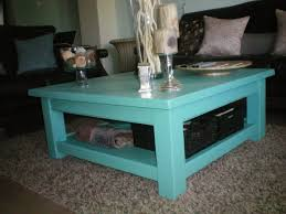 Teal Table L Blue Coffee Table Writehookstudio