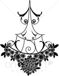 Black Chandelier Clip Art Chandelier Clipart Wedding Flourish