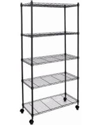 deal alert classic metal 5 shelf wire shelving rack shelves with