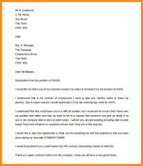 exle resign letter notice period resignation letter best resumes