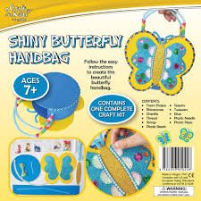 shiny butterfly handbag by craft for kids u2013 daves deals